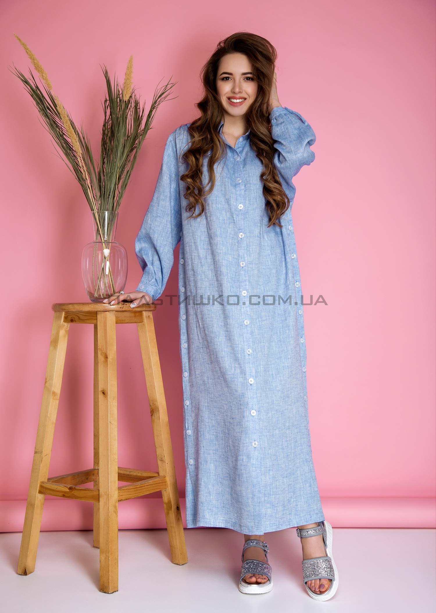 Платье-халат прямого кроя